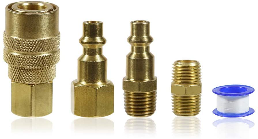 Air compressor fittings accessory kit